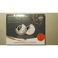 In der Luft, памятная монета 10 евро с полимерной вставкой, proof