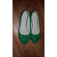 Туфли женские. Размер 39. Торговая марка LILIYA,Цвет зеленый