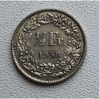 Швейцария 1/2 франка, 1958 2-12-43
