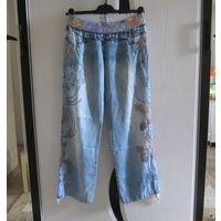 Легкие летние джинсы с вышивкой, р.42