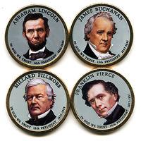 """США набор 2010 президенты США ЦВЕТНЫЕ """"золотые доллары"""" UNC"""