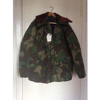Куртка рабочая, зимняя, защитной окраски, новая, размер 52-54,170-176 рост
