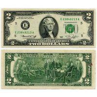 США. 2 доллара (образца 1976 года, E, Вирджиния, P461)