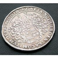 Талер 1623, Германия, Эрбах (графство). Остатки штемпельного блеска, патина. Коллекционное состояние