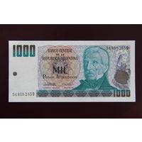 Аргентина 1000 песо 1984 UNC