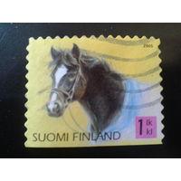 Финляндия 2005 шотландское пони, марка из буклета