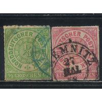 Северо-германский союз Германия 1868 Номинал Стандарт #2,4