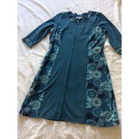 Синее платье C&A р.52 за 1 рубль (с дефектом)