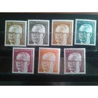 Берлин 1972-3 3-й бундеспрезидент Хейнеман** полная серия Михель-13,0 евро