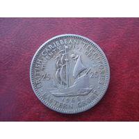 25 центов 1965 год Восточные Карибы