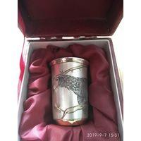 Серебряная стопка с позолотой