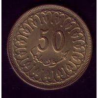 50 миллимов 1983 год Тунис