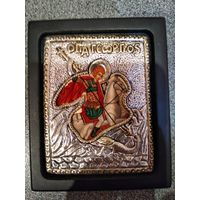 Именная иконка Георгий (серебро)