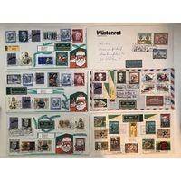 100 конвертов Австрии со спецгашением