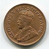 ЮЖНАЯ АФРИКА - 1/4 ПЕННИ 1924