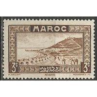 Французское Марокко. Исторический город Агадир. 1933г. Mi#95.
