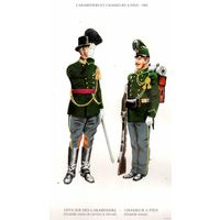 "Репродукция ""CARABINIERS ET CHASSEURS A PIED - 1902"" (формат А4)"