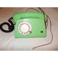 Телефон ELEKTRIM RWT ASTER-72 1976г. ПОЛЬША дисковый рабочий евро розетка