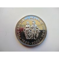 """Монетовидный жетон Швейцария 2000 """"Национальная валюта 150 лет"""""""