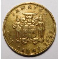 Ямайка. 1 пенни 1967г.