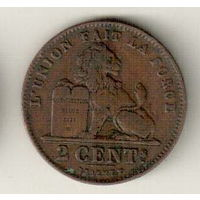 Бельгия 2 сантим 1912