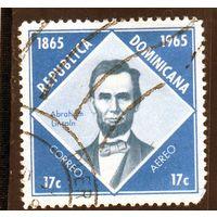 Доминикана.Ми-856.100 лет со дня смерти Авраама Линкольна.1965.