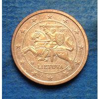 Литва 2 евроцента 2017