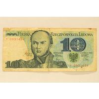 Польша, 10 злотых 1982 год.