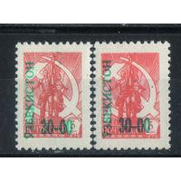 Узбекистан 1993 Надп Стандарт #27*