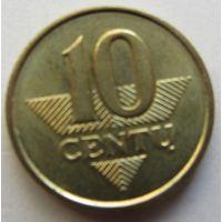 ЛИТВА,10центов2008г.