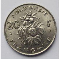 Французская Полинезия 20 франков 1975