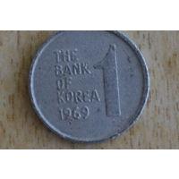 Южная Корея 1 вон 1969