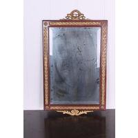 Зеркало старинное 19 век из массива латунь