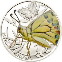 """Палау 2 доллара 2013г. """"Мир насекомых. Бабочка"""". Монета в капсуле; подарочном футляре; номерной сертификат; коробка. СЕРЕБРО 15,5гр."""