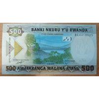 500 франков 2019 года - Руанда - UNC
