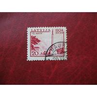 Марка 5 лет Конституции 1939 год Латвия