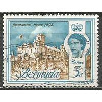 Бермуды. Королева Елизавета II. Дом Правительства. 1962г. Mi#164.
