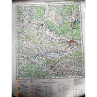 Молодечно карта 40х53 см.