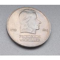 Германия - ГДР 20 марок, 1972 Фридрих фон Шиллер 6-10-16