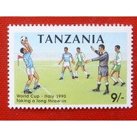 Танзания. Футбол. ( 1 марка ) 1990 года.