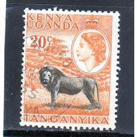 Британские колонии.Кения,Уганда,Танганьика. 20с. Королева Елизавета II. Лев.