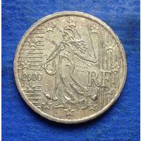 Франция 10 евроцентов 2000