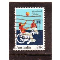 Австралия. Mi:AU 766. Баскетбол.Инвалидный спорт. 1981.