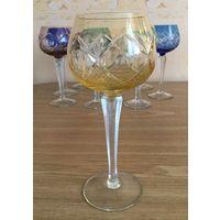 Фужер (бокал) для вина Лотос, янтарный . Германия.