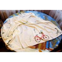 Платок нежной расцветки 90х90 см