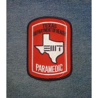 Шеврон Texas Departament of Health, Paramedic
