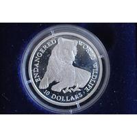 Острова Кука 10 долларов 1990 Тигр
