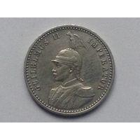 Немецкая Восточная Африка 1/4 рупий 1900г