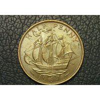 Великобритания 1/2 пенни 1967