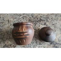 Горшочек для меда или для запекания, керамика, ручная работа